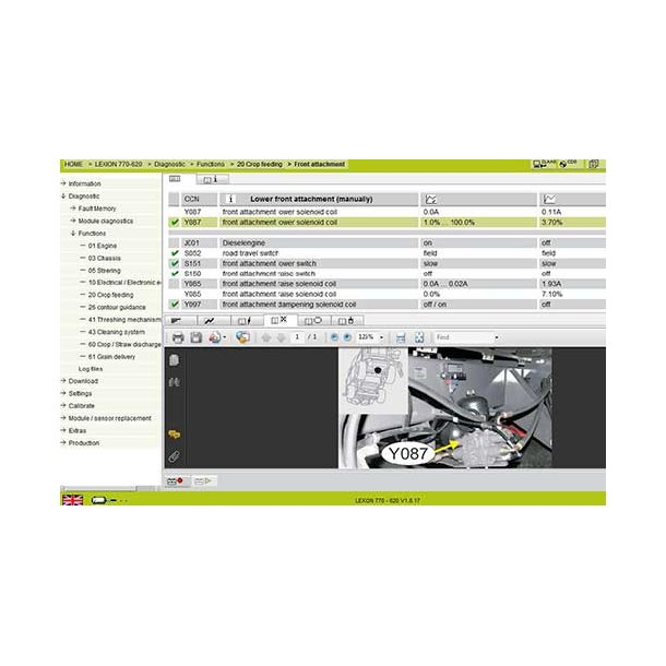 CLAAS AGRICULTURAL MACHINERY DIAGNOSTIC CANUSB
